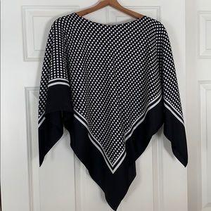 Silk Poncho by Ann Klein